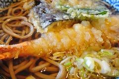 Tempura with Noodle Stock Photos