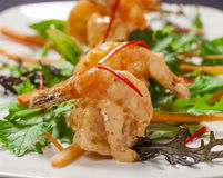 Tempura prawns Royalty Free Stock Image