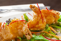 Tempura prawns Royalty Free Stock Photos