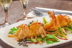 Tempura prawns Royalty Free Stock Photo