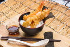 Tempura on rice Royalty Free Stock Photography