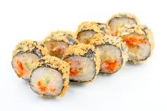 Tempura roll with salmon and avocado Stock Image