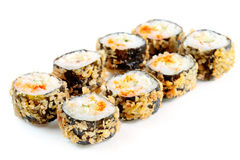 Tempura roll with salmon and avocado Royalty Free Stock Image
