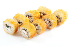 Tempura Roll With Salmon And Cream Cheese Stock Image