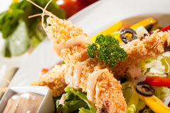 Tempura salad Royalty Free Stock Photo