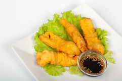 Tempura with salmon Stock Photo