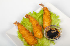 Tempura with shrimp Royalty Free Stock Photos