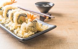 tempura shrimp sushi roll Stock Photos