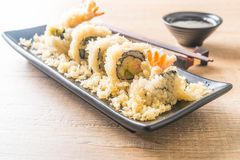 tempura shrimp sushi roll Stock Photo