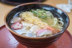 Tempura shrimp udon, japanese food. Closed up tempura shrimp udon, japanese food royalty free stock images