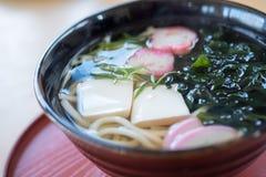 The tempura shrimp udon, japanese food. Closed up tempura shrimp udon, japanese food stock images