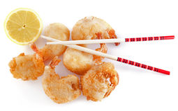 Tempura shrimps Stock Photo