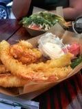 Tempura shrimps Royalty Free Stock Photos