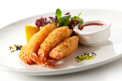 Tempura Shrimps Royalty Free Stock Photos