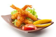 Tempura Shrimps Royalty Free Stock Photography