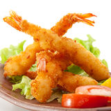 Tempura Shrimps. Japanese Cuisine - Ebi Tempura with Vegetables stock images