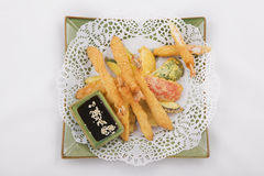Tempura Shrimps and vegetables Royalty Free Stock Photography