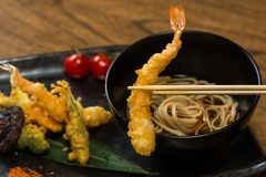 Tempura Shrimps with Vegetables Stock Image