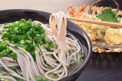 Tempura Soba, buckwheat noodles Royalty Free Stock Photo