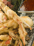 Tempura of Soft Shell Crab with Chili Sauce and Se Royalty Free Stock Image