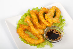Tempura with squid Stock Images