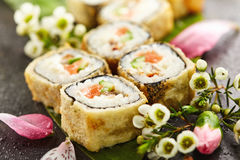 Tempura Sushi Roll Stock Photography