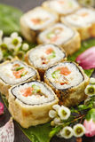 Tempura Sushi Roll Royalty Free Stock Photo