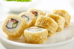 Tempura Sushi Roll Royalty Free Stock Images