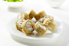 Tempura Sushi Roll Stock Images