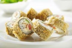 Tempura Sushi Roll Royalty Free Stock Photos