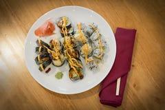 Tempura Sushi Rolls Stock Photo