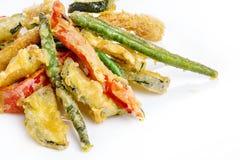 Tempura. With vegetables. Fried battered vegetables.  Japanese cuisine Stock Photography