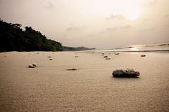 Tempurung Seaside Sand Royalty Free Stock Photos