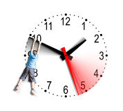 Tempus fugit - Time flies - Il tempo vola Stock Images