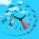 Tempus fugit - Time flies - Il tempo vola Stock Photography