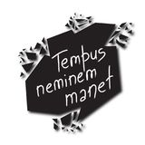 Tempus neminem manet - ο χρόνος περιμένει κανένα στα λατινικά ελεύθερη απεικόνιση δικαιώματος