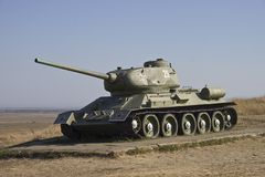 Temryuk. Tanque T-34 Imagens de Stock