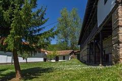 Temski修道院圣乔治,共和国庭院和教会塞尔维亚 免版税库存照片