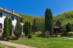 Temski修道院圣乔治,皮罗特,共和国庭院和教会塞尔维亚 免版税图库摄影