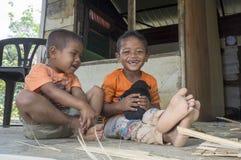 Temuans, один из индигенных людей Малайзии Стоковые Фотографии RF