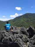 TEMULUN小山, BUKIT BULAN, SAROLANGUN占碑省印度尼西亚 免版税库存照片