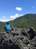 TEMULUN wzgórze, BUKIT BULAN, SAROLANGUN JAMBI INDONEZJA zdjęcie royalty free