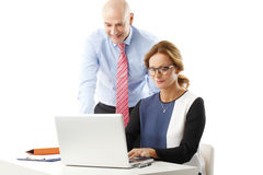 Temwork with laptop Stock Image