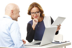 Temwork with laptop and digital tablet Royalty Free Stock Image