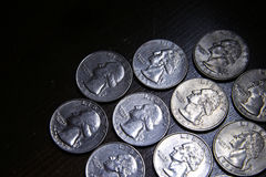 Ten American Quarters Royalty Free Stock Photography