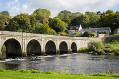 Ten Arch Stone Bridge over River Nore in Inistioge, Kilkenny, Ir. The historic and beautiful Ten Arch stone Bridge over River Nore in Inistioge, Kilkenny Stock Photos