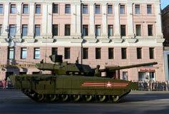 Ten-14 Armata är en ny rysk behållare för huvudsaklig strid som baseras på Armata den universella stridplattformen Royaltyfria Foton