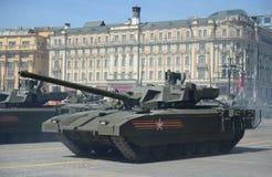 Ten-14 Armata är en rysk avancerad behållare för huvudsaklig strid för nästa generation som baseras på Armata den universella str Royaltyfri Fotografi