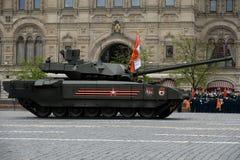 Ten-14 Armata är en rysk avancerad behållare för huvudsaklig strid för nästa generation som baseras på Armata den universella str Arkivfoto