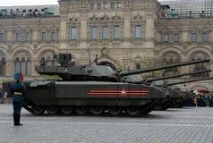 Ten-14 Armata är en rysk avancerad behållare för huvudsaklig strid för nästa generation som baseras på Armata den universella str Fotografering för Bildbyråer